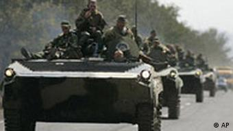 Russian troops on the move