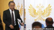 Moskau Fußballverband Sportminister Vitaly Mutko Wahl Russland