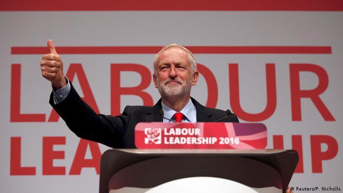 Großbritannien Liverpool - Jeremy Corbyn nach Parteisieg