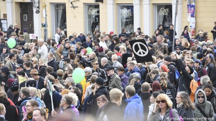 Demonstration gegen Rassismus Helsinki Finnland