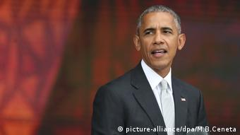 Barack Obama Eröffnung National Museum of African American (picture-alliance/dpa/M.B.Ceneta)