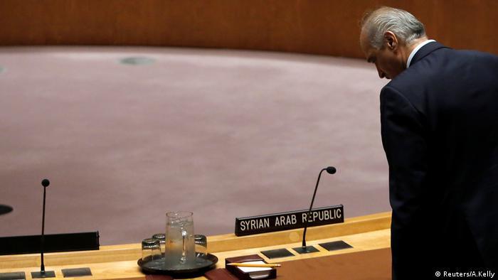 Syrien Botschafter UN Sicherheitsrat Bashar al-Jaafari New York (Reuters/A.Kelly)