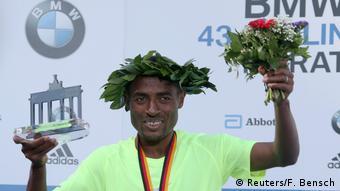 Berlin-Marathon Sieger Kenenisa Bekele aus Äthiopien