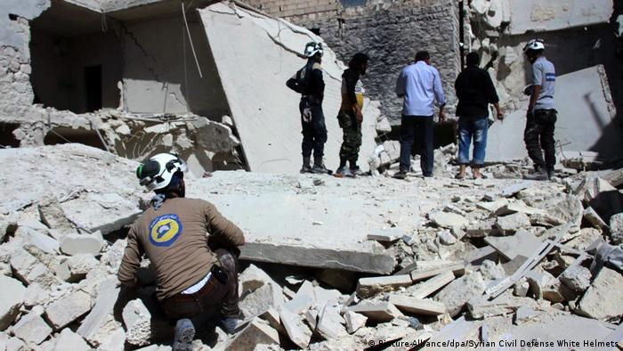 Syrien Aleppo Zerstörungen (Picture-Alliance/dpa/Syrian Civil Defense White Helmets)