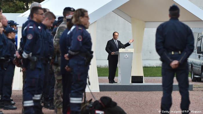 Frankreich Francois Hollande in Calais (Getty Images/AFP/P. Huguen)