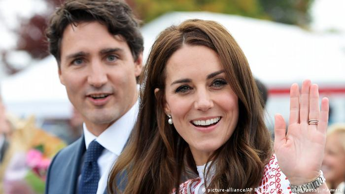 Justin Trudeau and Kate (picture-alliance/AP Photo/The Canadian Press/J. Hayward)