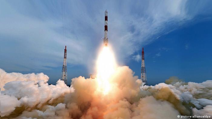 Indien Start Rakete PSLV-C35 (picture-alliance/dpa)