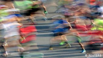 Runners compete at the Berlin marathon in Berlin (REUTERS)