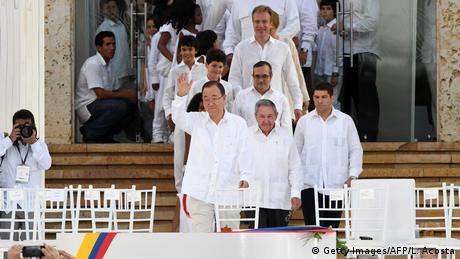 Assinatura de acordo de paz na Colômbia