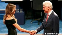 USA Wahlkampf TV Duell Bill Clinton und Melania Trump (Reuters/M. Segar)