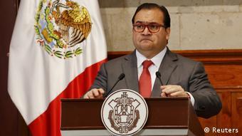 El exgobernador de Veracruz Javier Duarte.