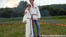 Weißrussische traditionelle Hochzeitkleidung