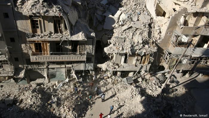 Bombed building in Aleppo