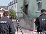 Polizisten vor der Fatih Camii Moschee nach dem Anschlag