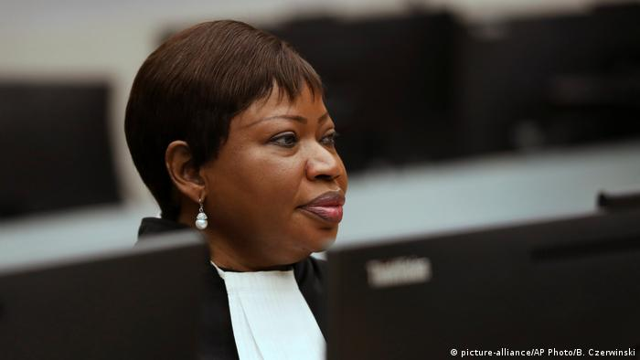 Fatou Bensouda in the courtroom