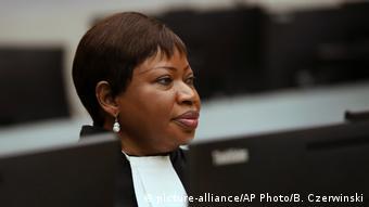 Niederlande Timbuktu Gerichtsprozess gegen Al Mahdi Anklägerin Fatou Bensouda (picture-alliance/AP Photo/B. Czerwinski)