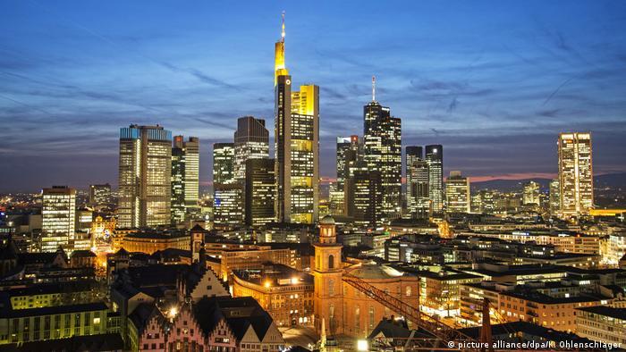 Centro histórico e arranha-céus de Frankfurt