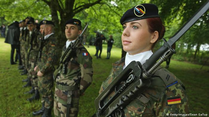 Members of a Franco-German joint military brigade