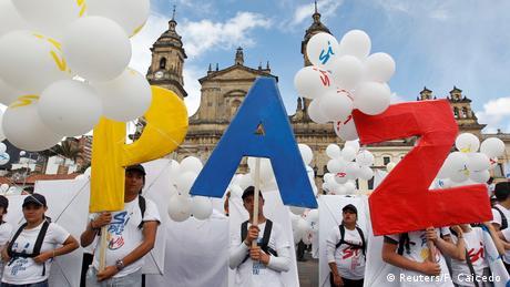 Kolumbien Historisches Friedensabkommen in Cartagena unterzeichnet (Reuters/F. Caicedo )