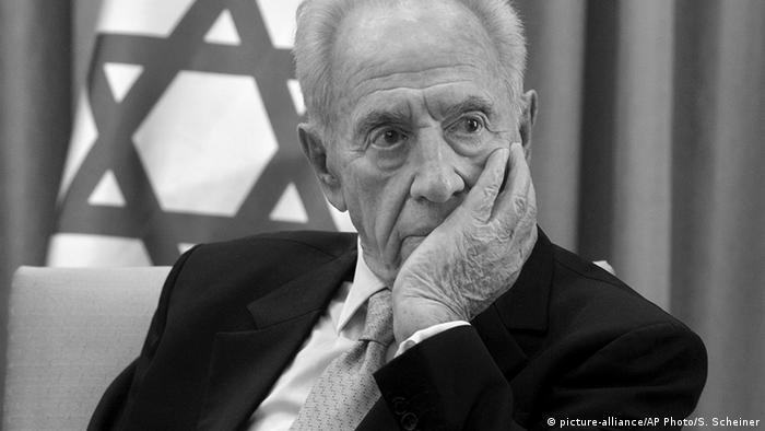 Israel Prortrait Shimon Peres s/w