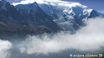 Frankreich Bergmassiv Mont Blanc