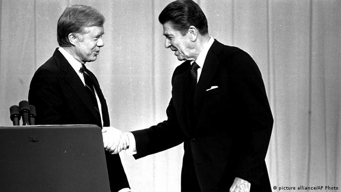 TV Duelle Jimmy Carter Ronald Reagan (picture alliance/AP Photo)