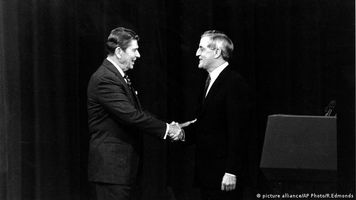 TV Duelle Ronald Reagan Walter Mondale (picture alliance/AP Photo/R.Edmonds)