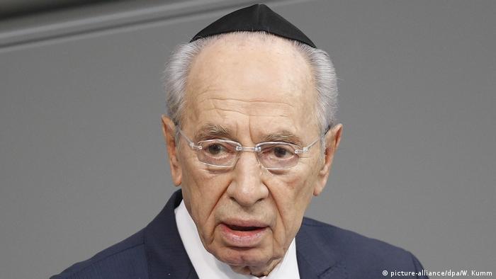 Šimon Peres u Bundestagu