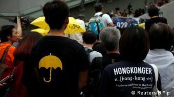 Hongkong China Regenschirme Umbrella Revolution (Reuters/B.Yip )