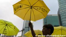 Hongkong China Regenschirme Umbrella Revolution