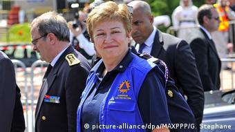 Frankreich EU-Kommissarin Kristalina Georgiewa bei einer Sicherheitsübung in Lyon