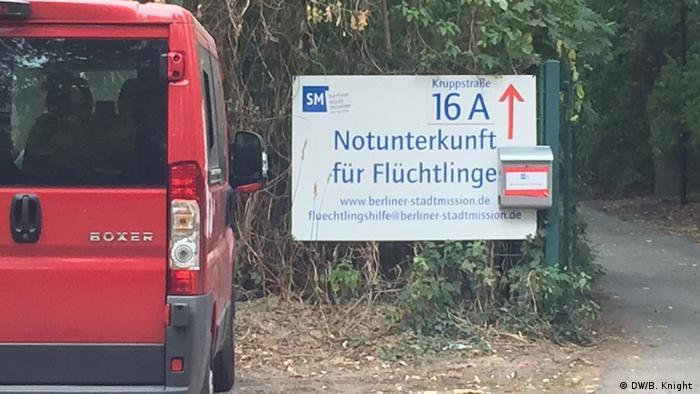 Deutschland Flüchtlingsunterkunft Kruppstr. Moabit, Berlin (DW/B. Knight )