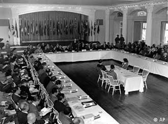 Conferência internacional em Bretton Woods