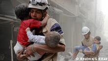 Syrien Weißhelme in Aleppo