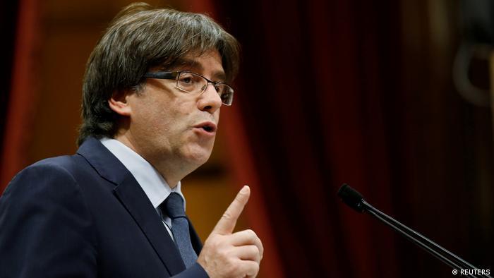 Katalonien Regierungschef Puigdemont stellt Vertrauensfrage Barcelona (REUTERS)