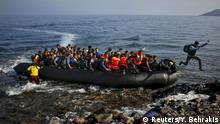 Griechenland Flüchtlinge erreichen Lesbos