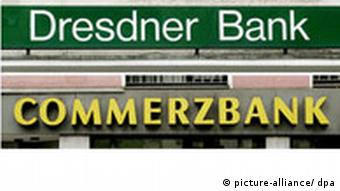 Signs for Commerzbank and Dresdner Bank