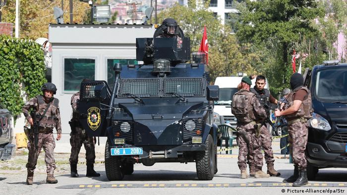 Türkei Sicherheitskräfte (Picture-Alliance/dpa/Str)