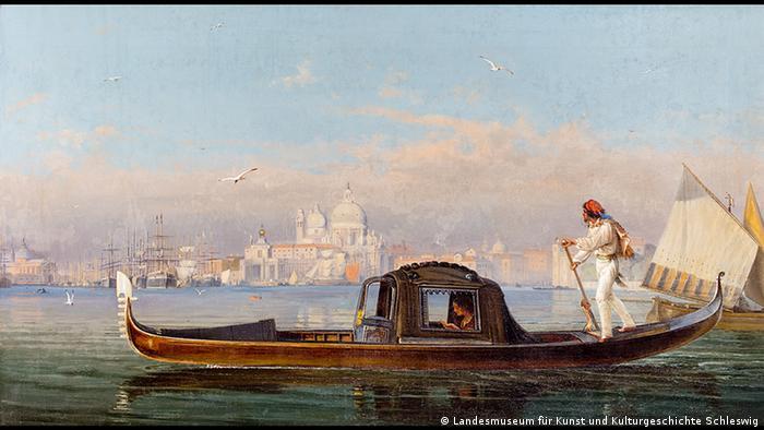Ansicht von Venedig mit einer Gondel Friedrich Nerly, Foto: Landesmuseum für Kunst und Kulturgeschichte Schleswig