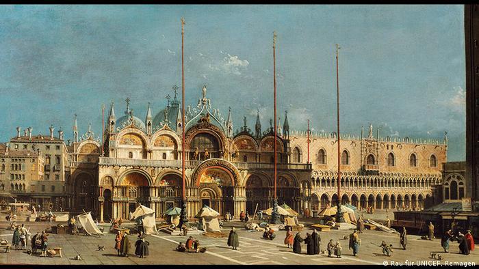 Markusplatz mit Dogenpalast Canaletto, Foto: Rau für UNICEF, Remagen