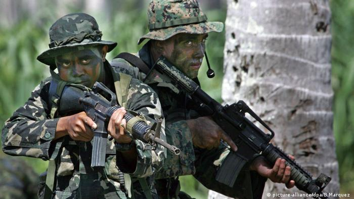Marine-Übung auf den Philippinen USA