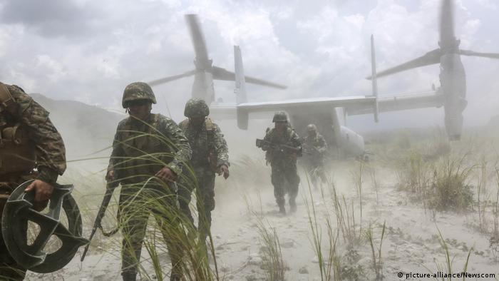 USA Philippinen Marine Militär Manöver Übung (picture-alliance/Newscom)