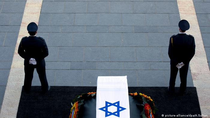 Shimon Peres Jerusalem Israel Trauerzeremonie (picture-alliance/dpa/A.Sultan )