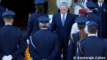 Israels Premierminister Benjamin Netanjahu bei der Trauerzeremonie für Shimon Peres