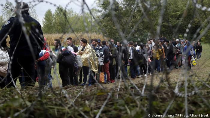 Flüchtlinge Migration Kroatien Grenze Ungarn (picture-alliance/AP Photo/P.David Josek)