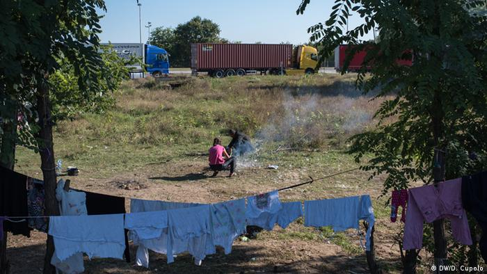 Serbien Kelebija Fotoreportage Diego Cupolo an ungarischer Grenze (DW/D. Cupolo)