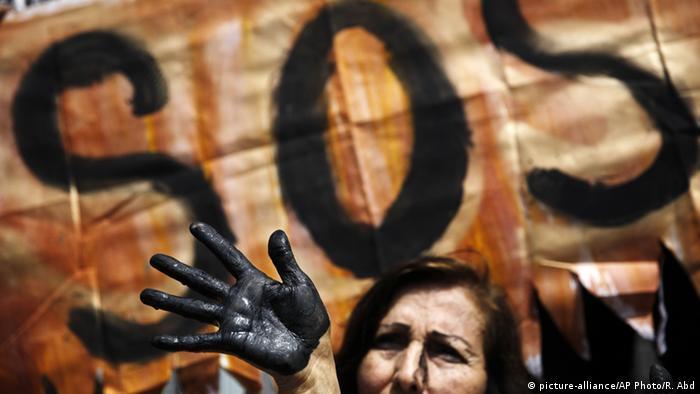Peru Lima demonstration against oil spills