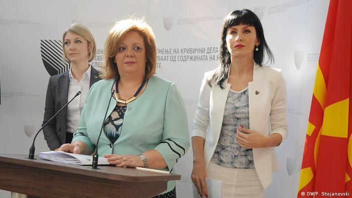 Mazedonien Sonderstaatsanwältin Ristoska, Janeva und Fetai in Skopje