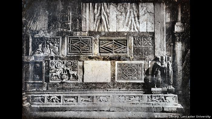 Venedig, San Marco, Südfassade: Detail und Tetrarchen John Rushin, Foto: Ruskin Library, Lancaster University