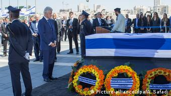Israel Shimon Peres Gedenkfeier in der Knesset Bill Clinton (Picture-alliance/dpa/A. Safadi)
